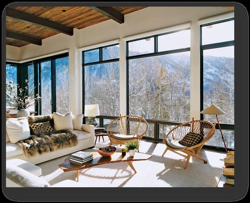 Большие красивые окна фото